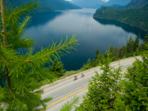 Road Cycling Slocan Lake New Denver