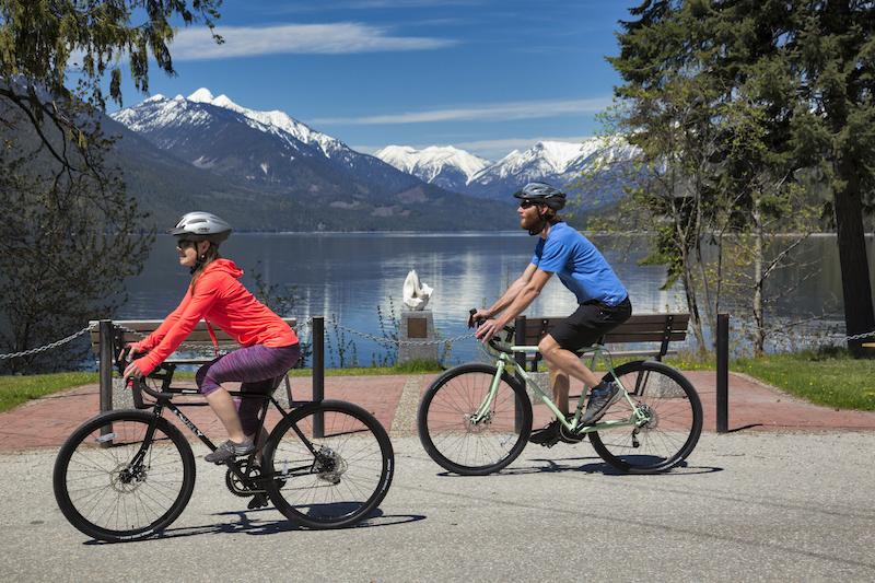 Road Cycling Slocan Lake New Denver BC
