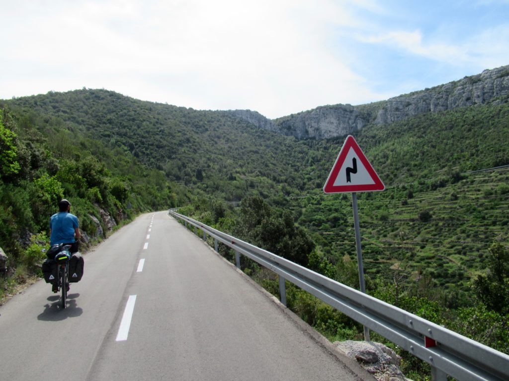 Cycling on Hvar, Croatia